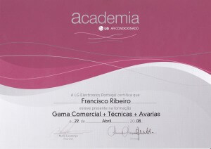 Certificado Academia LG