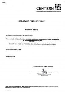 Resultado do Exame para Certificação em Manuseamento de Gases Fluorados